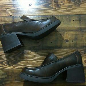 Skechers block heel loafers